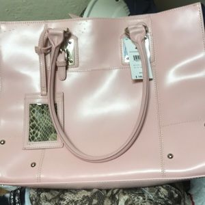 NWT Wilson's leather large pink purse